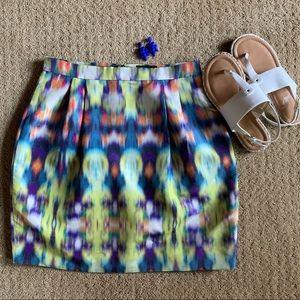 J.Crew Multicolor Silk Pencil Skirt